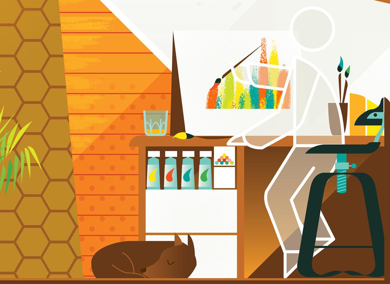 """Is this your dream workspace?"" (dettaglio) © Ben The Illustrator"
