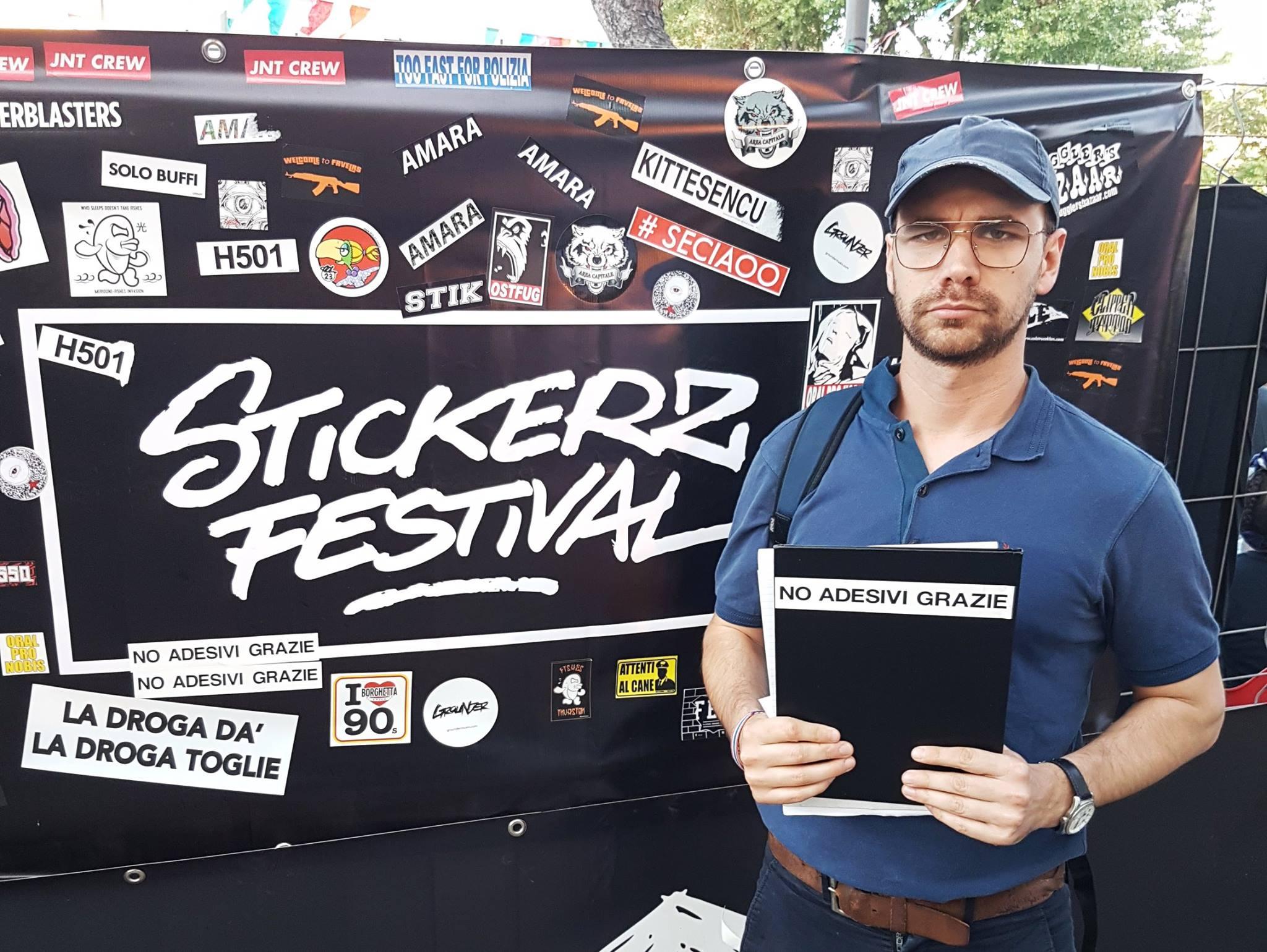 Mirko Zarattin allo Stickerz Festival