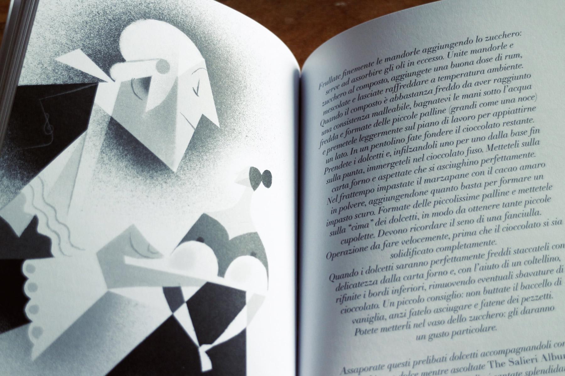 Forchette e melodie - Musicisti in cucina, di Gian Nicola Vessia, illustrazioni di Riccardo Guasco, Raum Italic 2016 (foto: Frizzifrizzi)