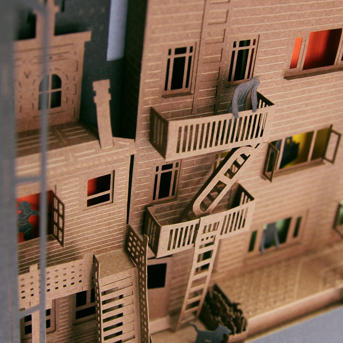 Alcuni tra i pi famosi film horror e thriller diventano diorami di carta frizzifrizzi - La finestra sul cortile film completo ...
