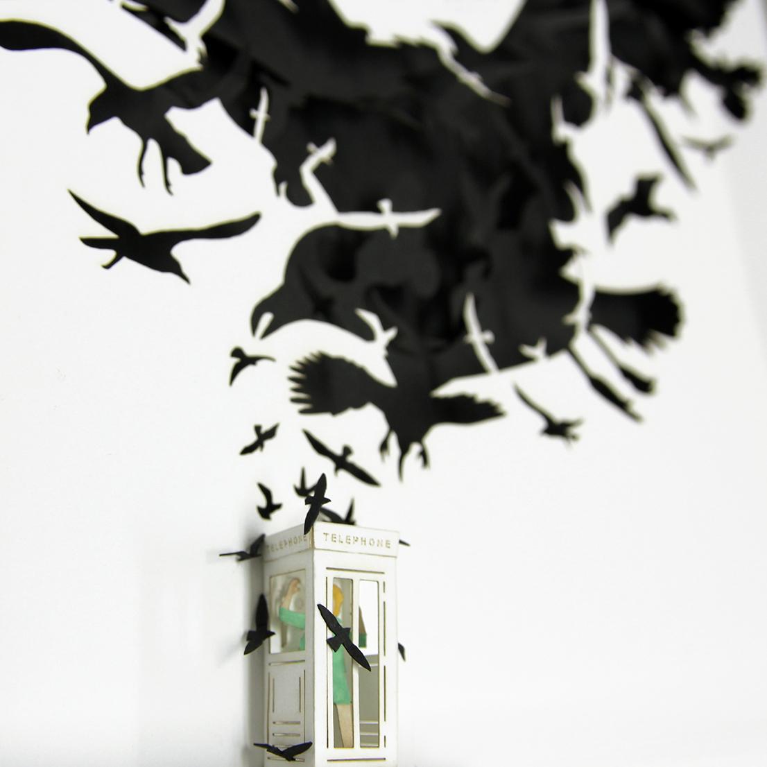 """(dettaglio) """"Gli uccelli"""", di Alfred Hitchcock, 1963"""