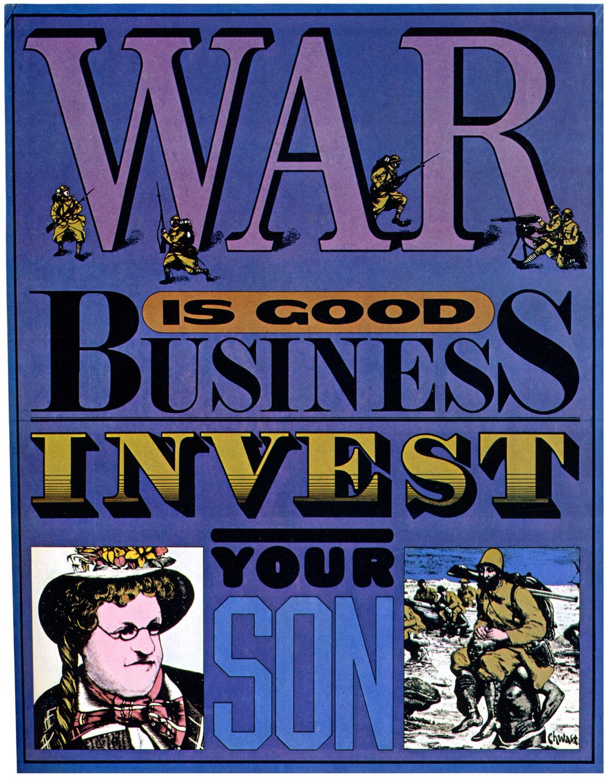 """War Is Good Business"", Seymour Chwast, 1968"