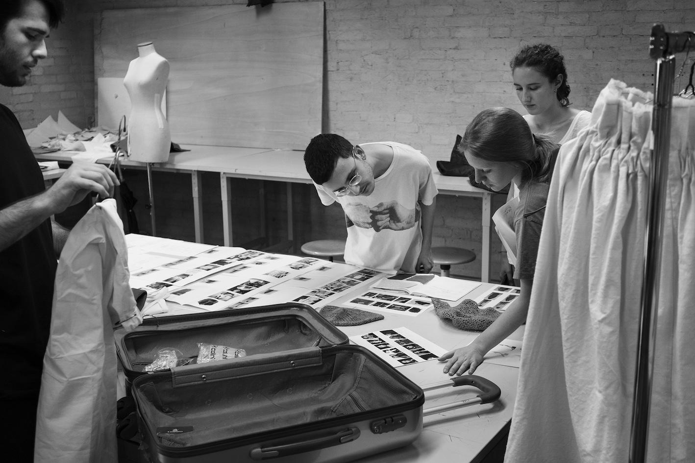 Studenti del corso di laurea magistrale in moda al lavoro, 2016 (foto: Francesco de Luca)
