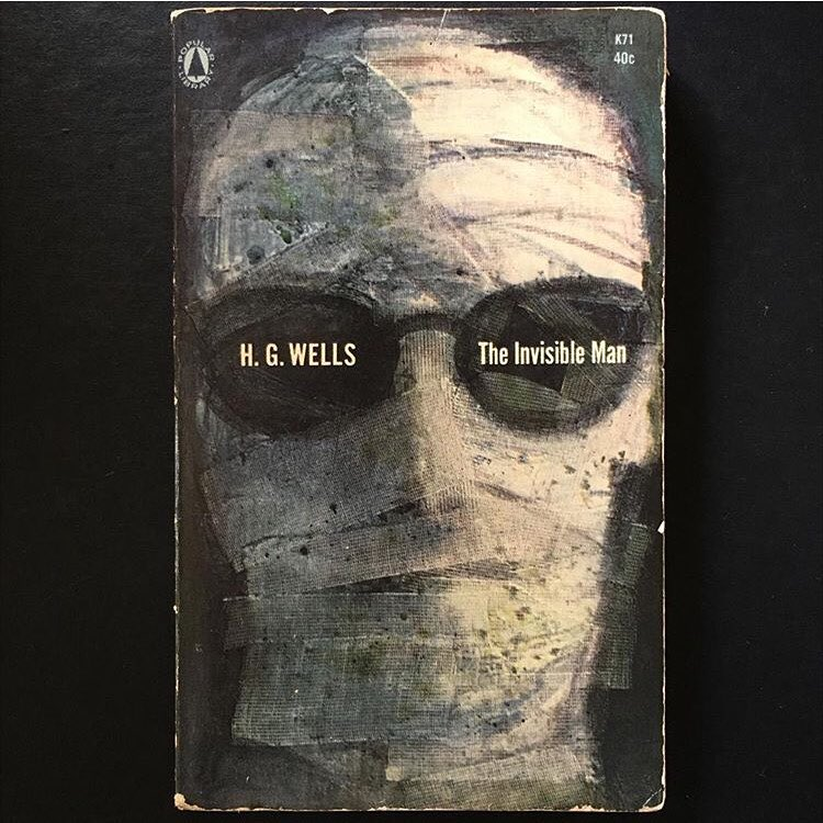 """""""The Invisible Man"""", H. G. Wells, 1897 Cover art uncredited, 1964"""