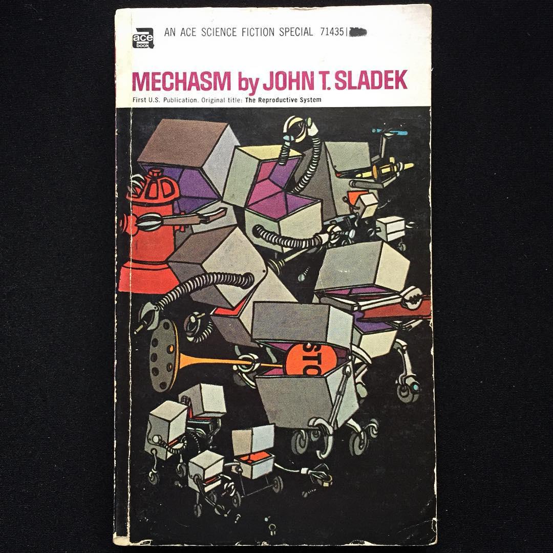 """""""Mechasm"""", John T. Sladek, 1968 Cover art by Leo e Diane Dillon, 1969"""