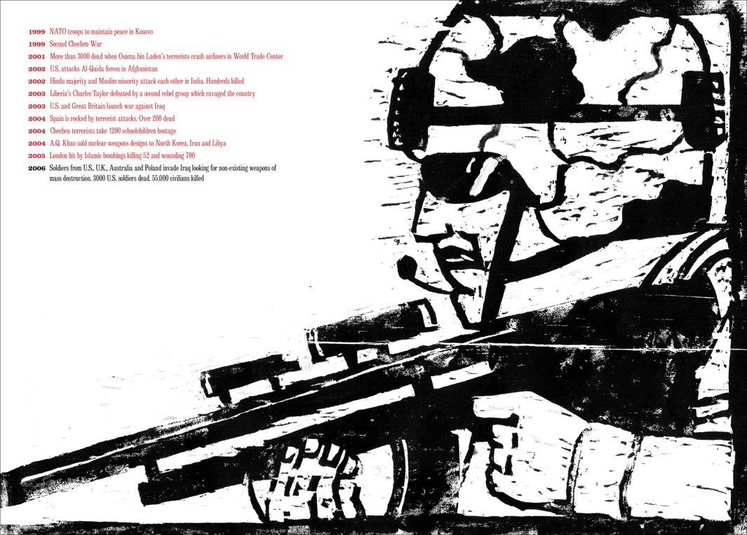 "Seymour Chwast, ""At war with war"", la guerra in Iraq"