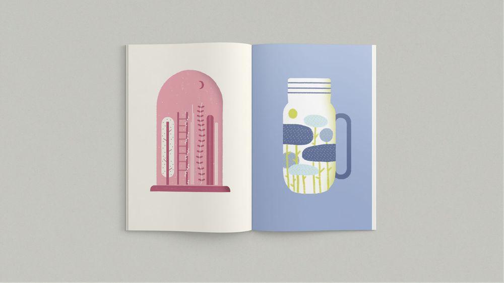 """La piccola pubblicazione illustrata """"Boschi Portatili"""", di tuta"""
