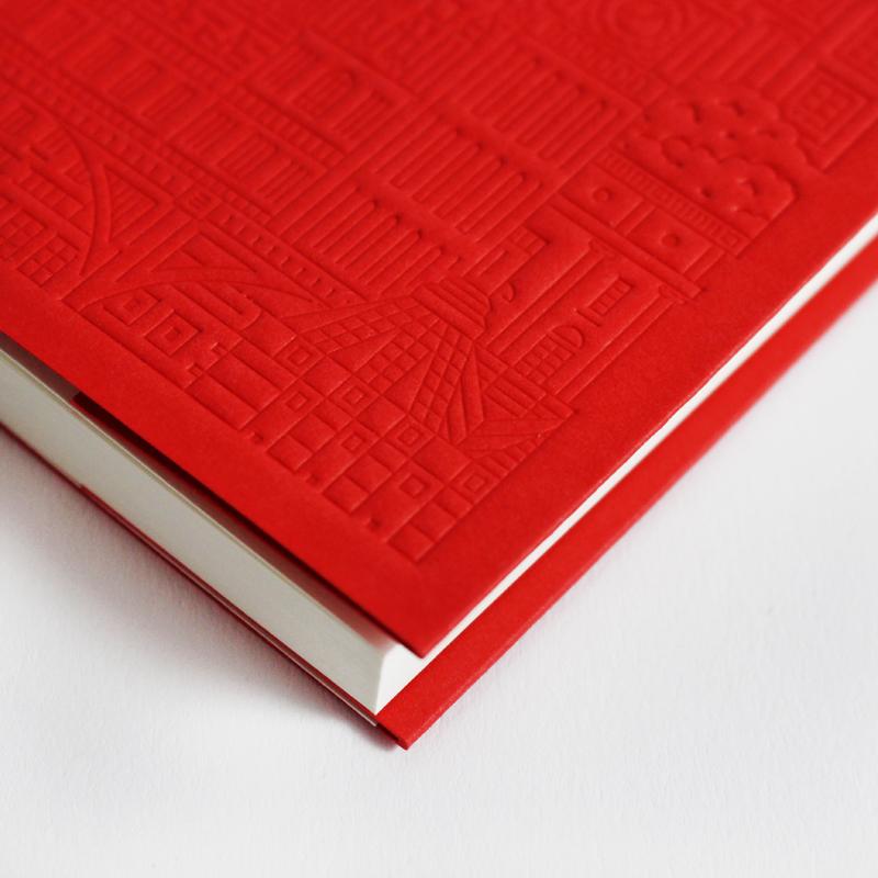 Westminster-Debossed-Notebook-Close-Up