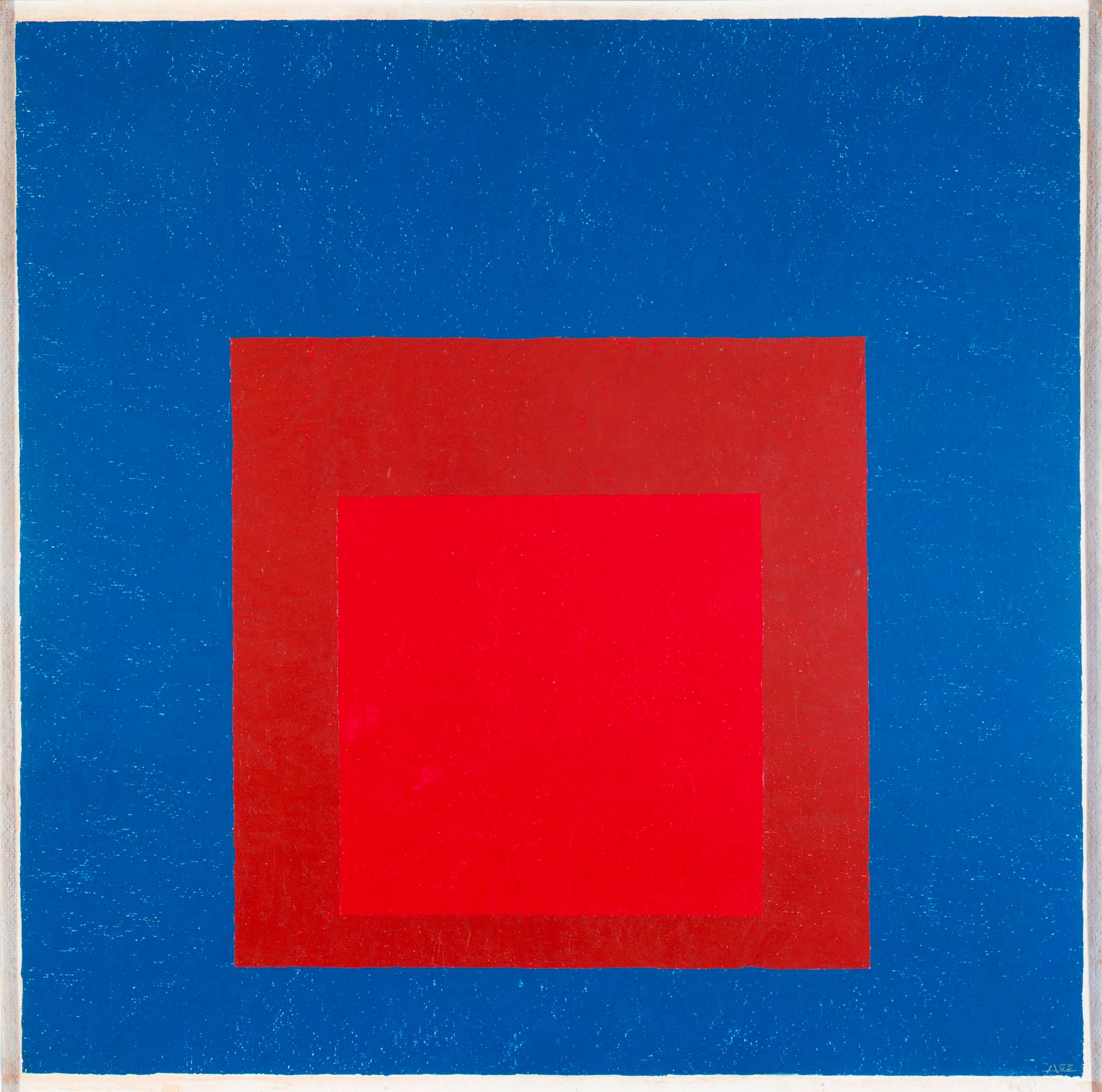 "Josef Albers, ""Homage to the Square: Against Deep Blue"", 1955 (Harvard Art Museums/Busch-Reisinger Museum, Anonymous gift © The Josef and Anni Albers Foundation/Artists Rights Society (ARS), New York)"
