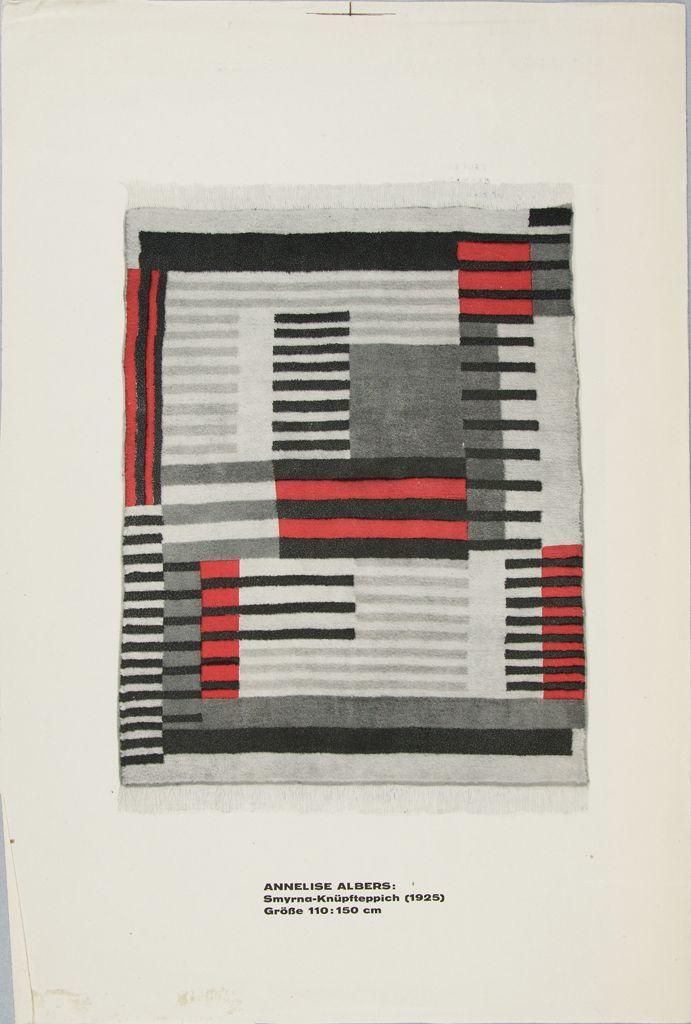 foto di un'opera tessile di Anni Albers (Harvard Art Museums/Busch-Reisinger Museum, Gift of Anni Albers)
