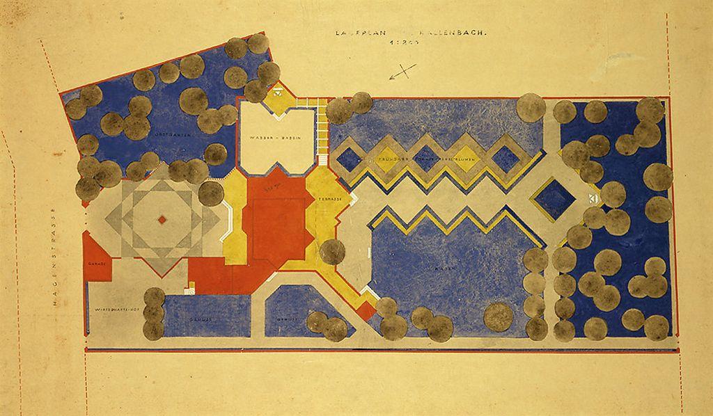 "Walter Gropius, ""Kallenbach Residence, Berlin, 1921-1922: Site Plan"", 1921-1922 (Harvard Art Museums/Busch-Reisinger Museum, Gift of Walter Gropius)"