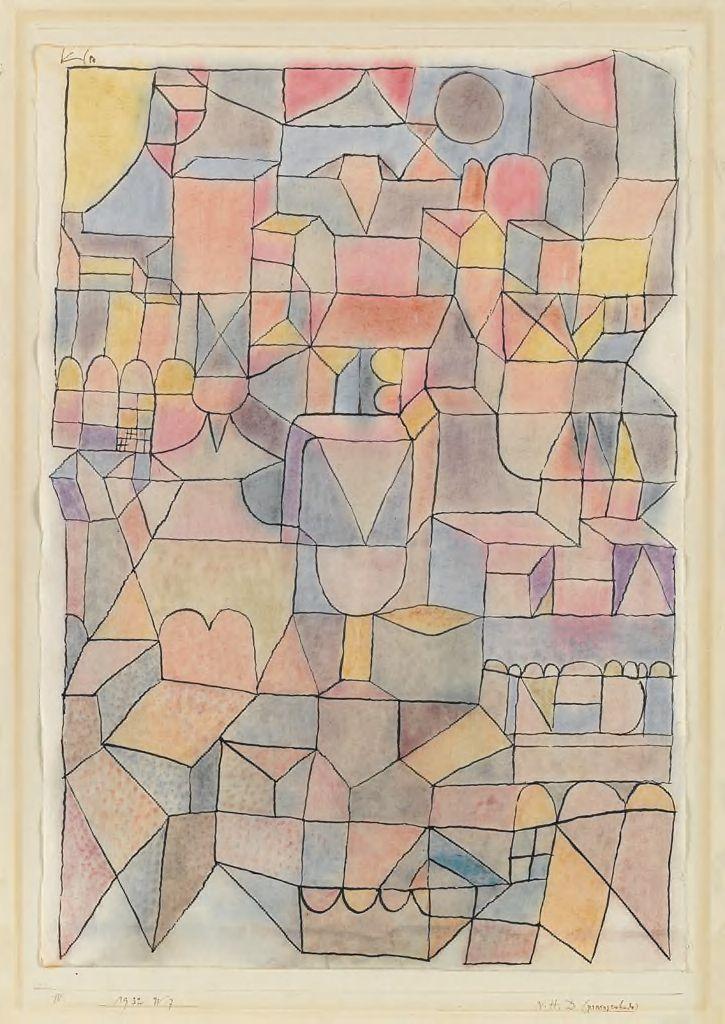 "Paul Klee, ""N H D (provinceenhaitchde)"", 1932 (Harvard Art Museums/Busch-Reisinger Museum, Bequest of Virginia H. Deknatel in memory of Frederick Brockway Deknatel © Artists Rights Society (ARS), New York / VG Bild-Kunst, Bonn)"