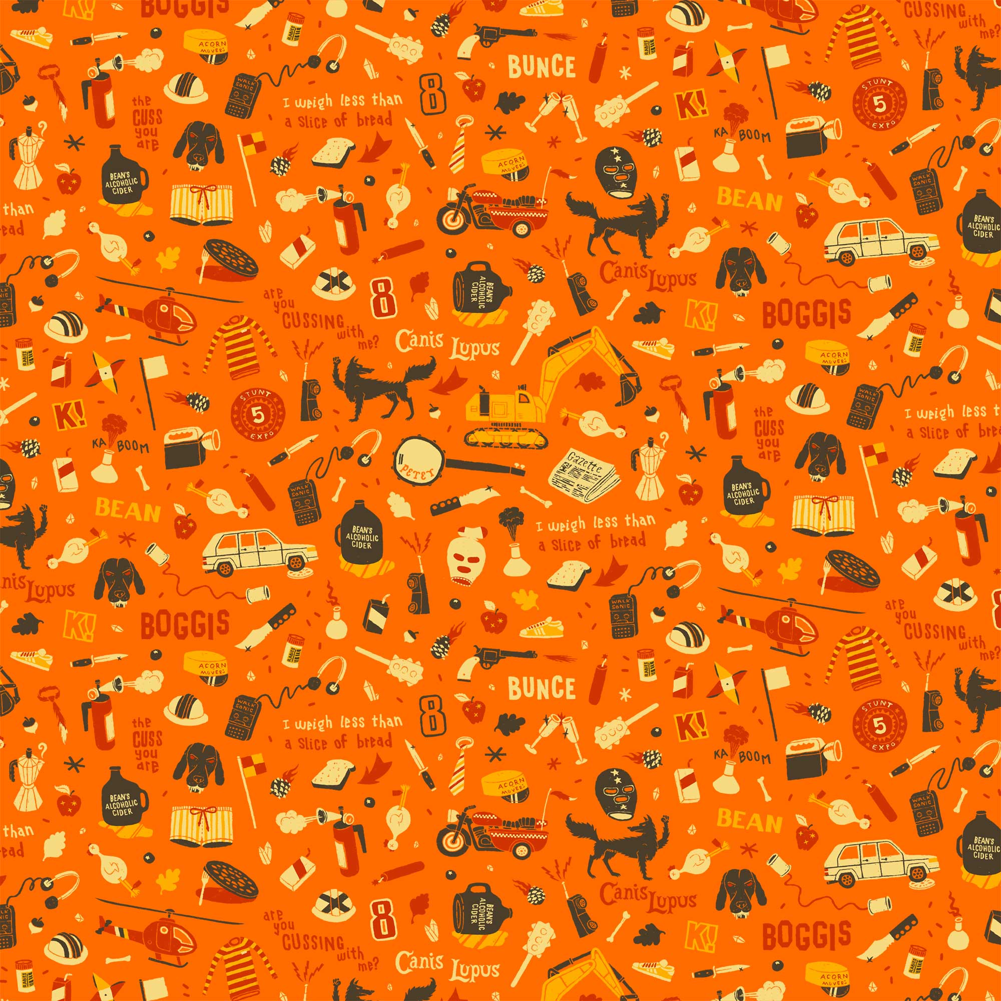 "Pattern ispirato a ""Fantastic Mr. Fox"" (© Dan Lehman)"