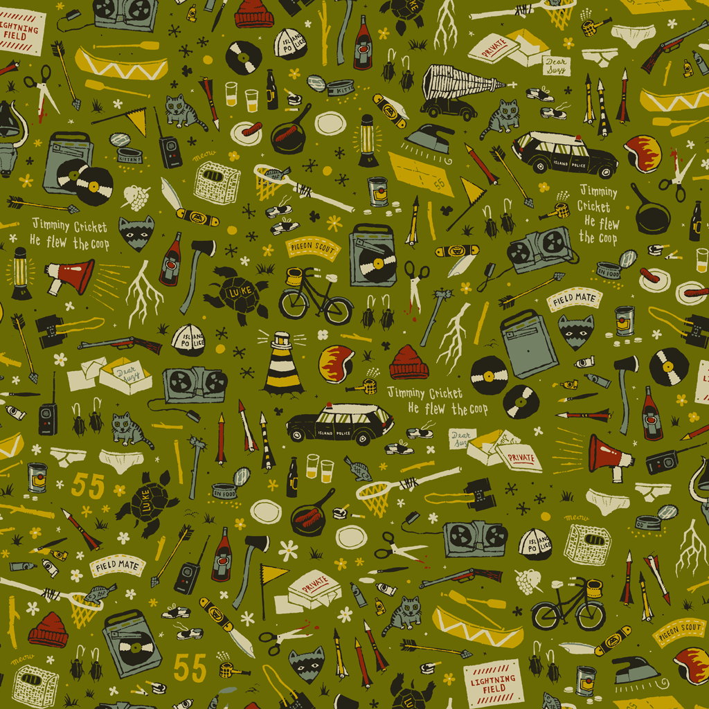 "Pattern ispirato a ""Moonrise Kingdom"" (© Dan Lehman)"