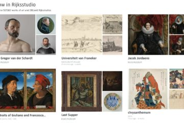 Sulla homepage di Rijksstudio le collezioni curate dal museo sono messe fianco a fianco con quelle curate dagli utenti