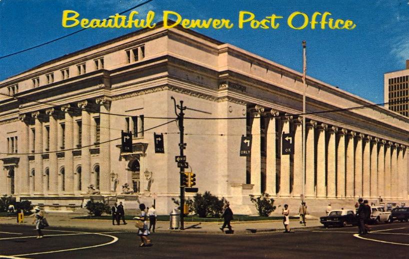 Beautiful Denver Post Office (courtesy Bad Postcards)