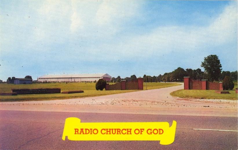 Radio Church of God, Big Sandy, Texas (courtesy Bad Postcards)