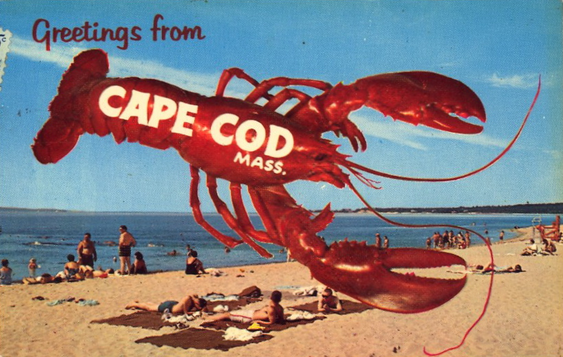 Greetings from Cape Cod, Massachusetts (courtesy Bad Postcards)
