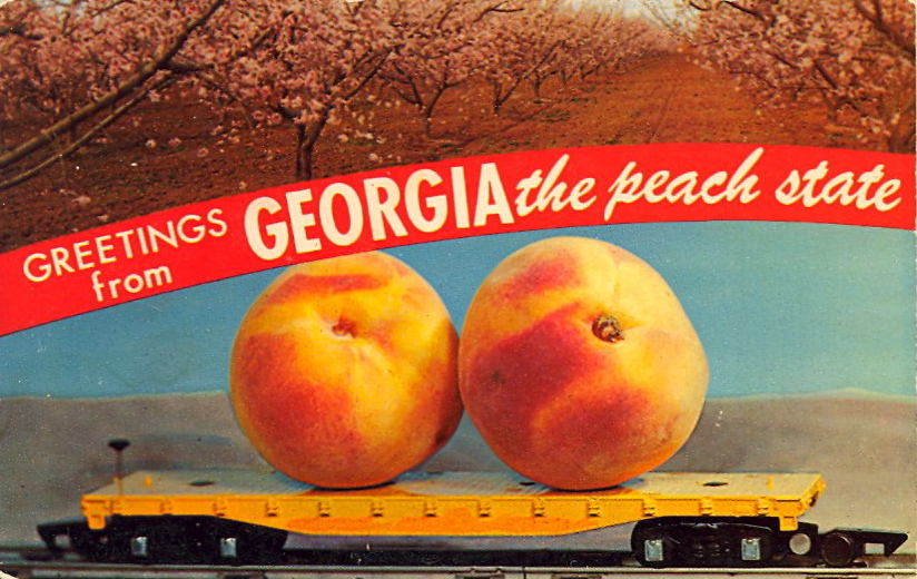 Greetings from Georgia, the peach state (courtesy Bad Postcards)
