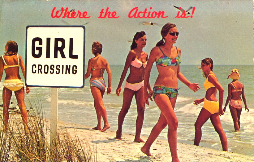 Where the action is! (courtesy Bad Postcards)