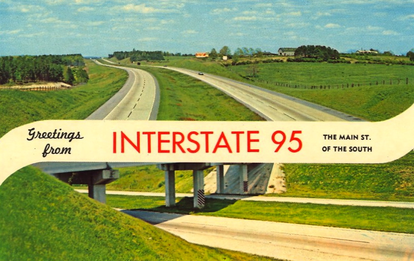 Greetings for Interstate 95 (courtesy Bad Postcards)