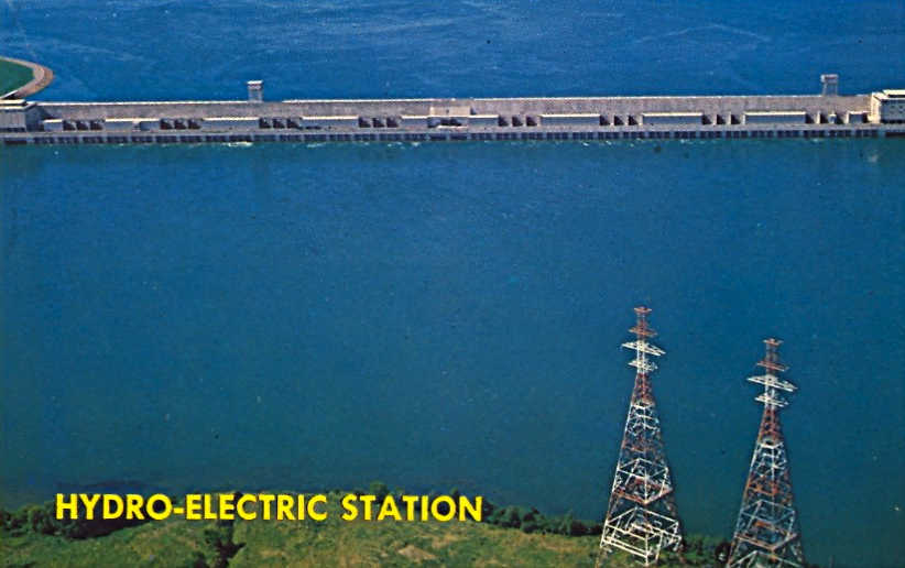 Hydro-electric station (courtesy Bad Postcards)