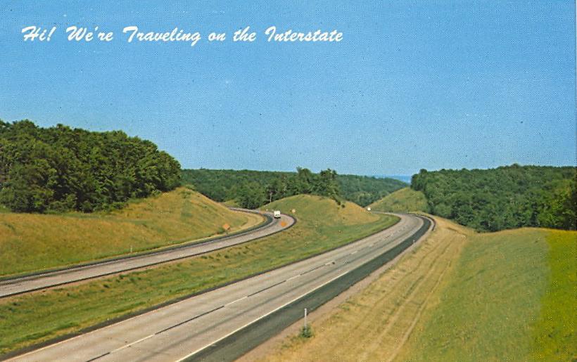 Interstate, somewhere (courtesy Bad Postcards)