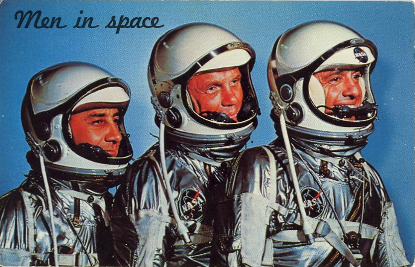 Men in space (courtesy Bad Postcards)