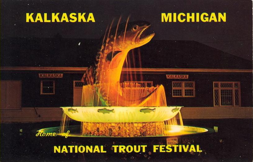 National Trout Festival, Kalkaska, Michigan (courtesy Bad Postcards)