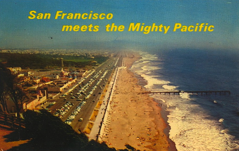 San Francisco meets the Mighty Pacific (courtesy Bad Postcards)