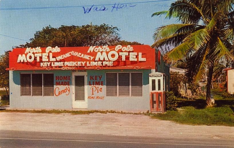 The North Pole Motel Café, Florida (courtesy Bad Postcards)