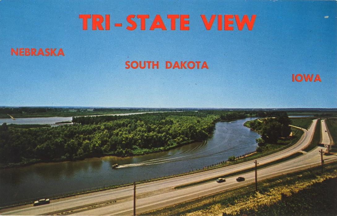 Tri-State view, South Dakota (courtesy Bad Postcards)
