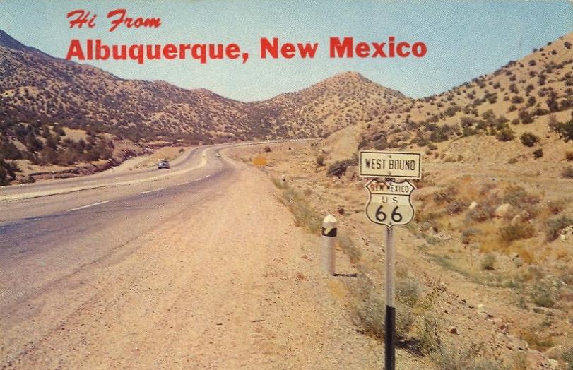 U.S. Highway 66, Albuquerque, New Mexico (courtesy Bad Postcards)