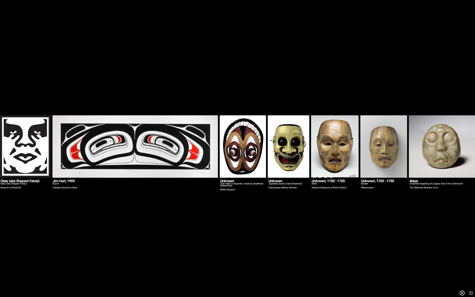 Da Shepard Fairey indietro fino a una maschera maya dedicata al potentissimo dio giaguaro