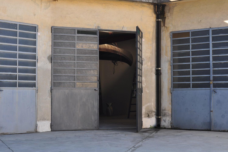 L'ingresso durante la ristrutturazione