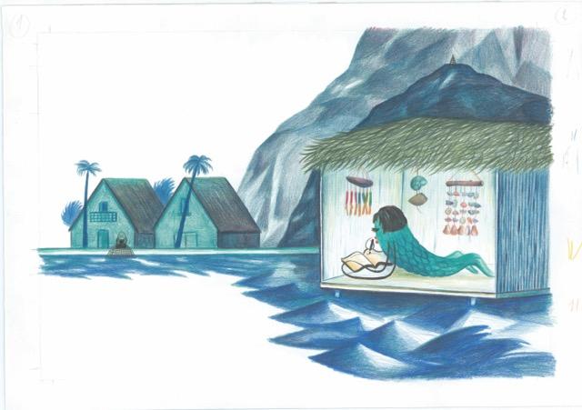 """Tavola tratta da """"Rondinella. Storia di un pesce volante"""", di Luca Caimmi © Luca Caimmi"""