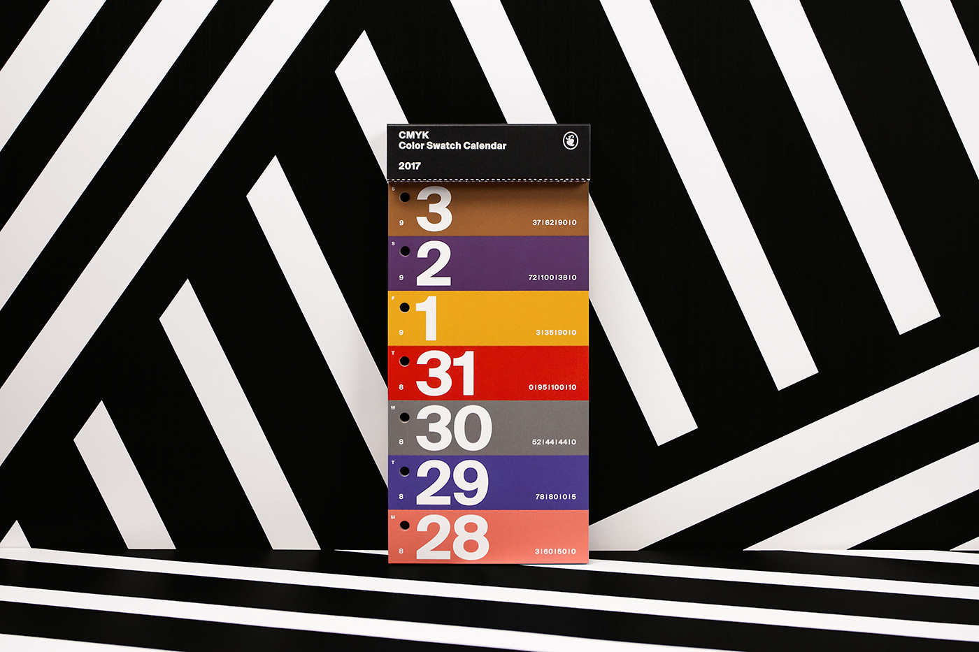 Color Swatch Calendar 2017 10