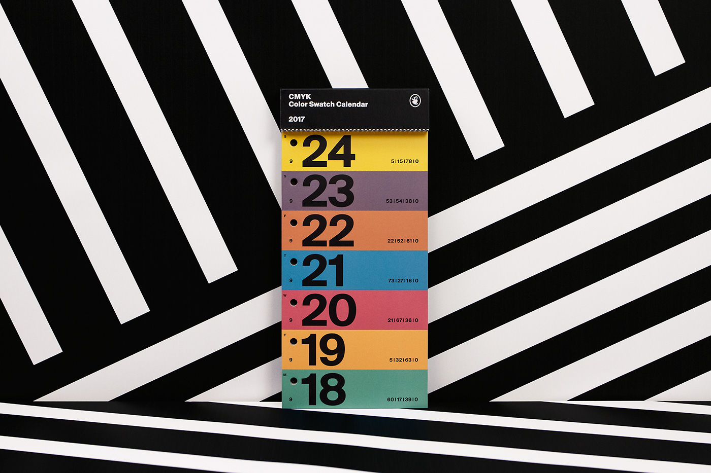 Color Swatch Calendar 2017 12