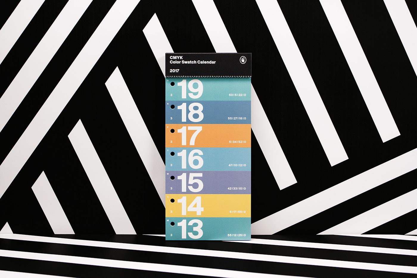 Color Swatch Calendar 2017 13