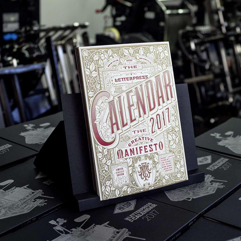 2017 letterpress calendar 7