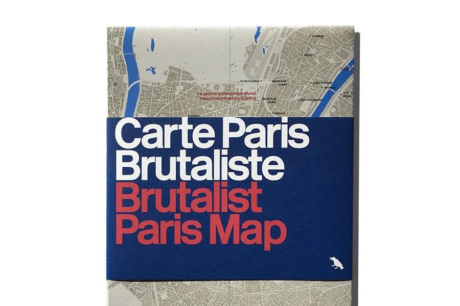 Brutalist Paris Map 0