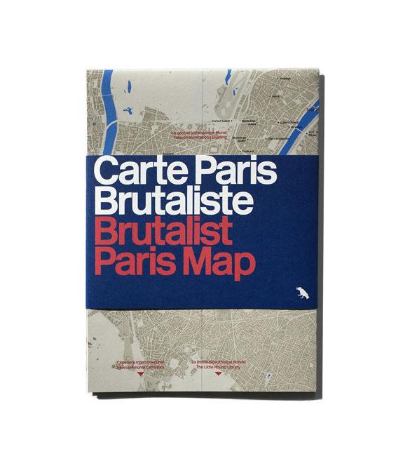 Brutalist Paris Map 1