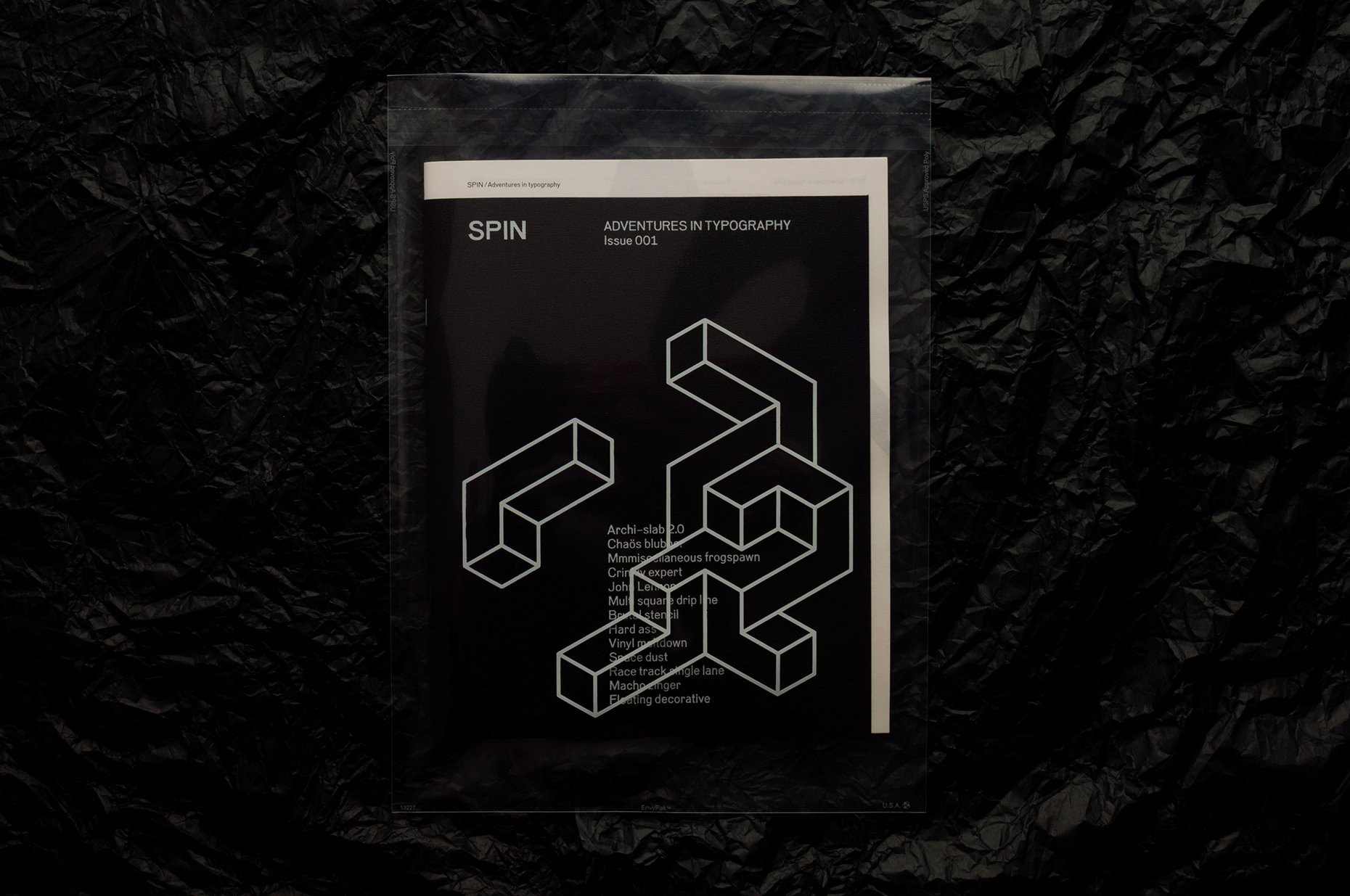 SPIN MAG BLACK COVER SLEEVE