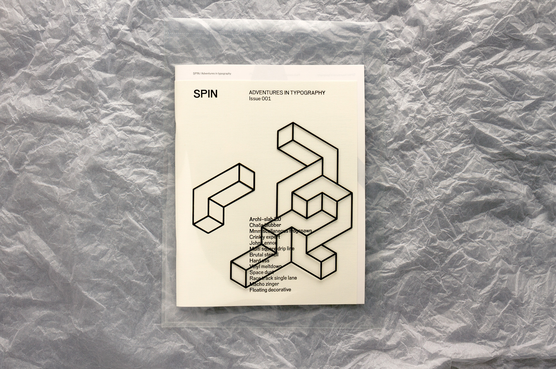SPIN MAG WHITE COVER SLEEVE