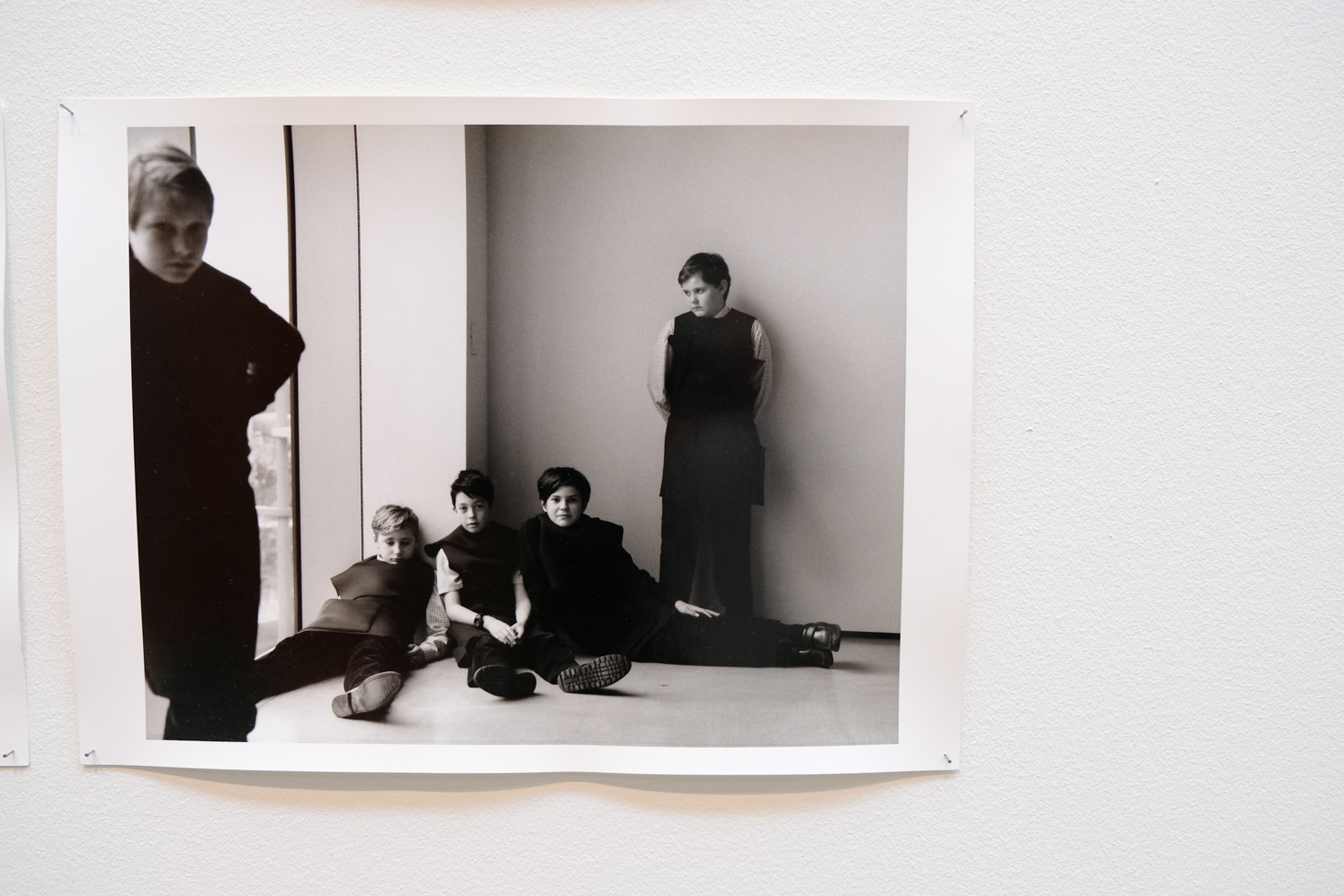 34 Photographs by Jamie Hawkesworth Kids with exhibition dress
