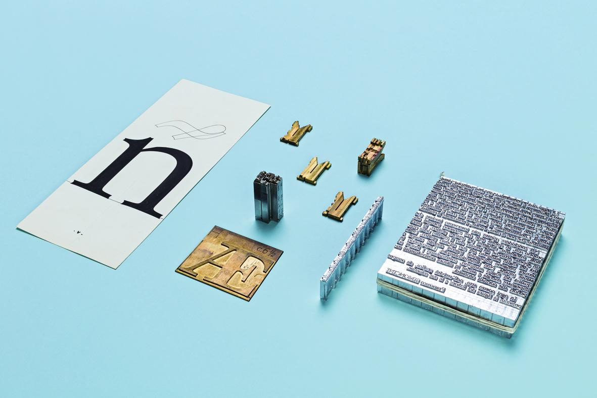 2 Materiali produzione carattere tipografico con Linotype