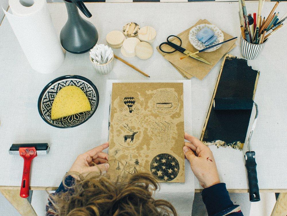 hand printing at home 2