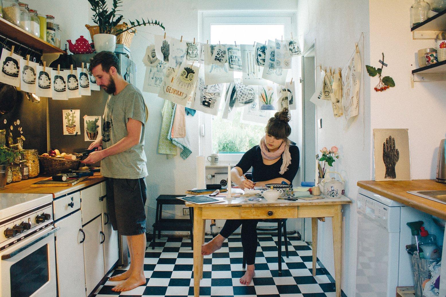 hand printing at home 6