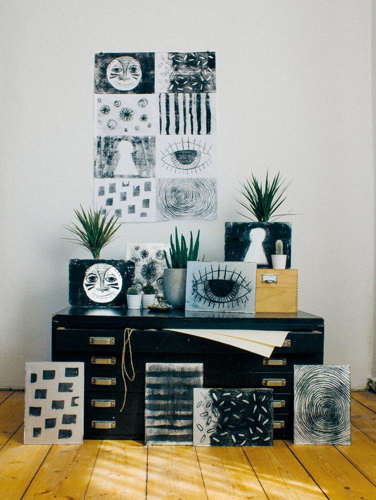 hand printing at home 8