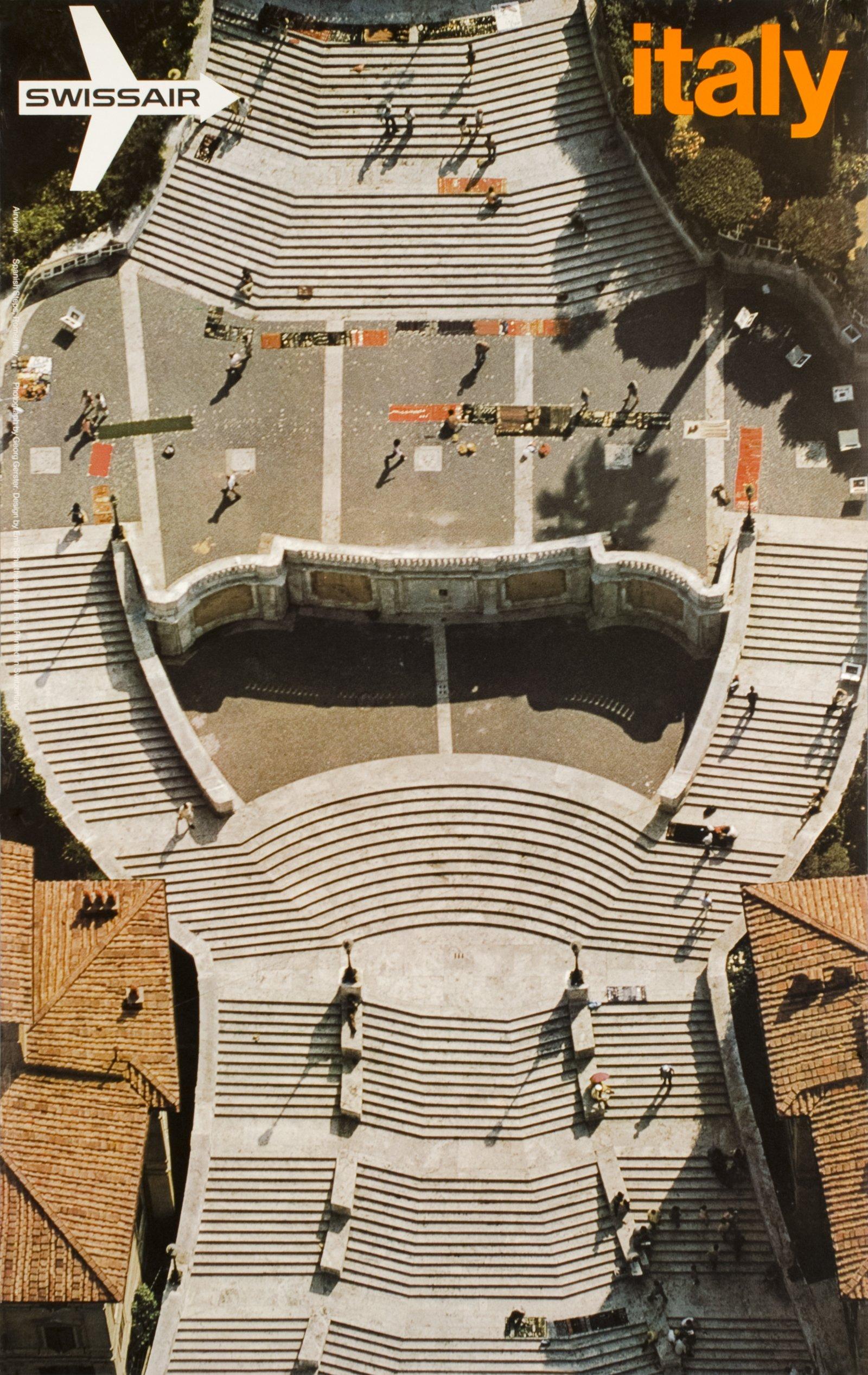 swissair roma italy spanish steps 31543 italy vintage